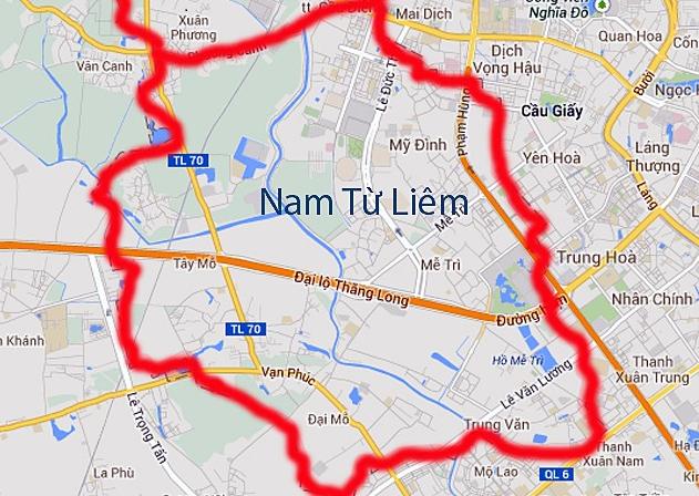Dự án: Hệ thống cơ sở hạ tầng của quận Nam Từ Liêm