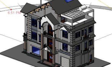 [Góc chia sẻ] Bản vẽ Revit biệt thự 3 tầng