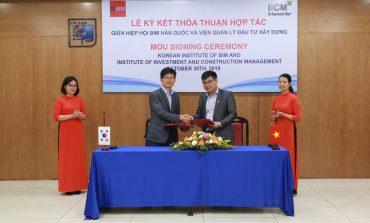 Lễ ký hợp tác ghi nhớ giữa Hiệp hội BIM Hàn Quốc – Viện Quản lý Đầu tư Xây dựng, trường Đại học Xây dựng
