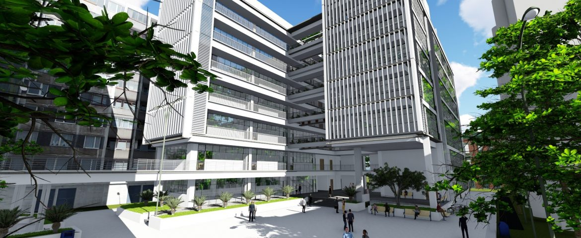 Project: Building H3 lecture hall at National University of Civil Engineering